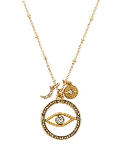 Evil Eye Talisman Pendant Necklace, 16