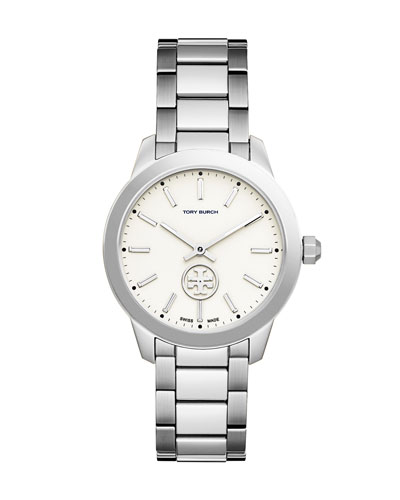 Collins Stainless Steel Two-Hand Watch