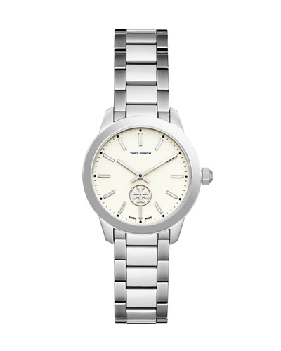 32mm Collins Stainless Steel Two-Hand Watch