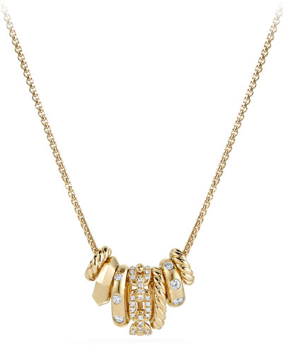 Stax Small 18K Multi-Pendant Necklace with Diamonds