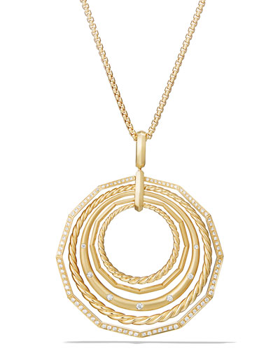 Stax 18k Gold Pendant Necklace with Diamonds, 36