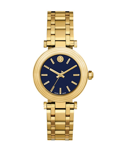 The Classic T Golden Watch, Yellow/Navy