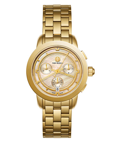 The Tory Classic Chronograph Watch, Rose/Golden
