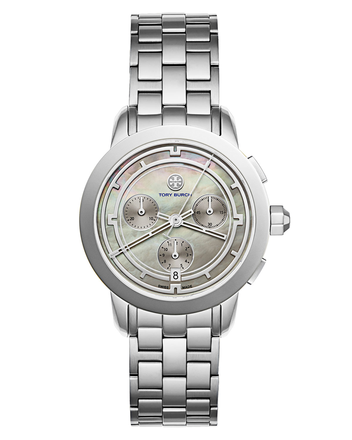 The Tory Classic Chronograph Watch, Fog/Silvertone