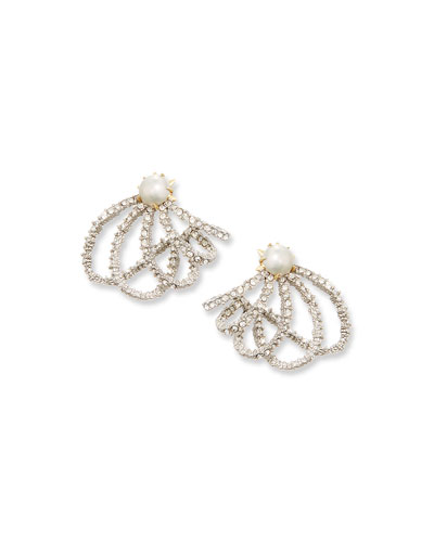 Crystal Lace Orbit Earrings