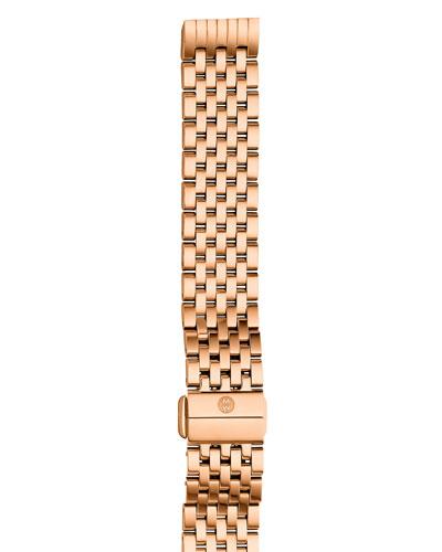 Deco II 16mm 18K Rose Gold Bracelet Watch Strap