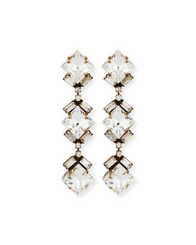 Dylan Crystal Drop Earrings