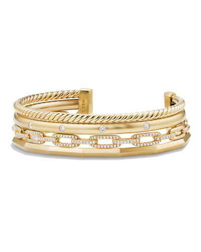 Stax 18k Gold Four-Row Cuff Bracelet