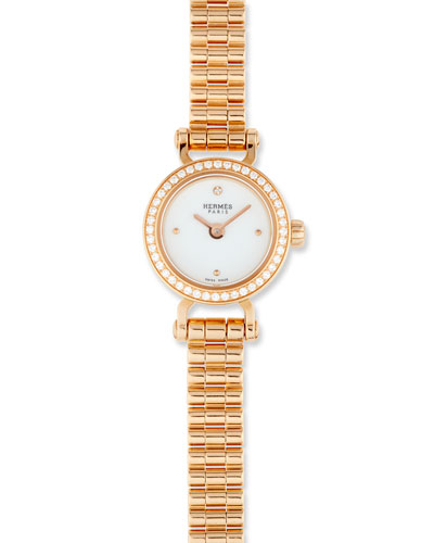 Fauborg TPM Watch with Diamonds in 18K Rose Gold