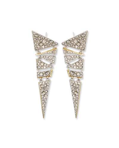 Hinged Crystal Mosaic Lace Drop Earrings