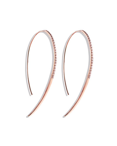 Fatale Hooked on Hoops Diamond Earrings in Rose Gold