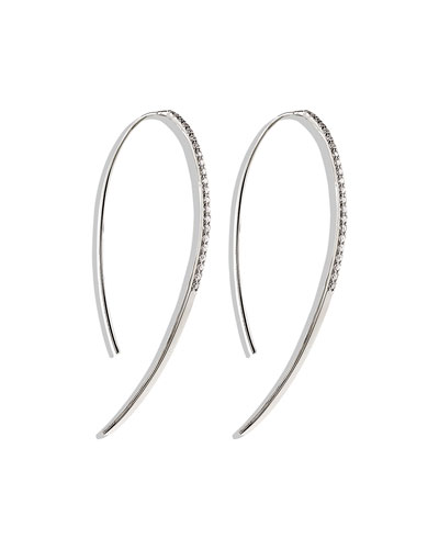 Fatale Hooked on Hoops Diamond Earrings in White Gold