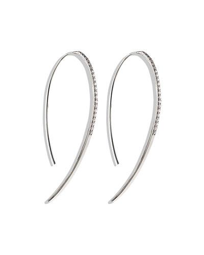 Fatale Hooked on Hoops Diamond Earrings in White Gold