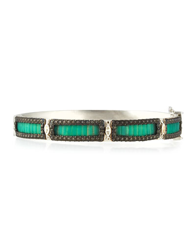 New World Teal Mosaic Bracelet with Diamonds
