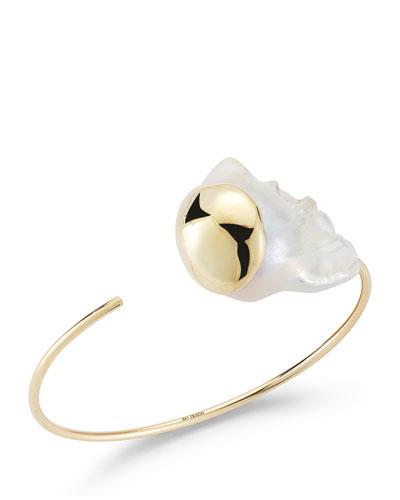 Mizuki 14K Two-Pearl Cuff Bracelet 6G1ZfyS