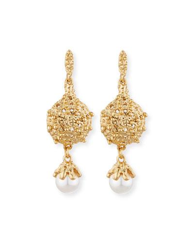 Urchin Pearly Drop Earrings