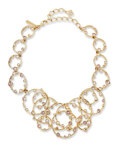 Circular Crystal Statement Necklace