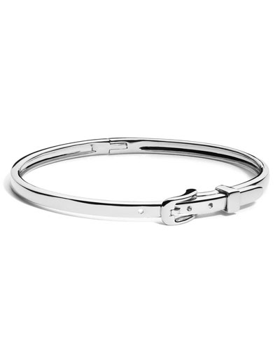 Thin Sterling Silver Buckle Bracelet
