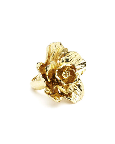 Bold Flower Ring, Golden