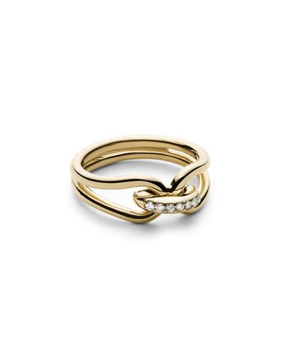 Diamond Lug Ring in 14K Gold