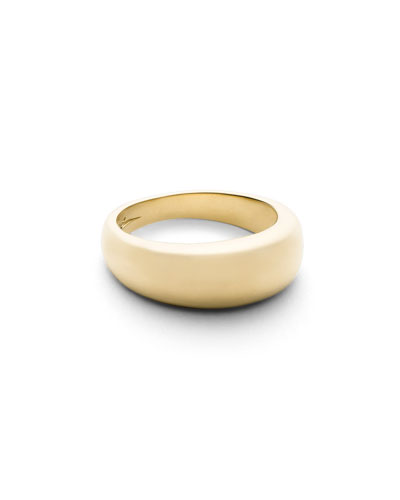 Crescent Dome Ring in 18K Gold