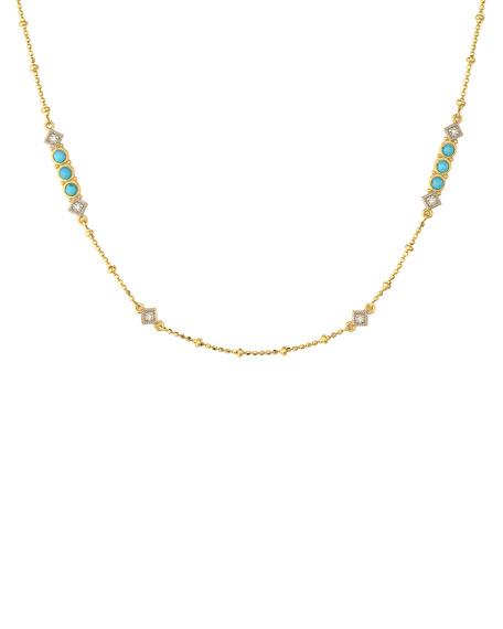 Jude Frances Lisse Diamond & Turquoise Chain Necklace
