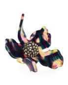 Sculptural Crystal Lily Ring