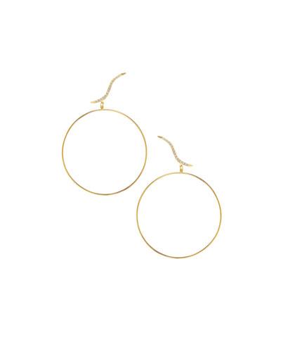 Electric Hoop Stud Duo Earrings with Diamonds