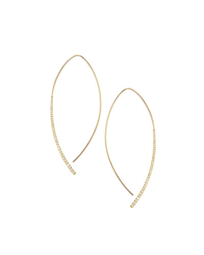 Electric Arch Thread-Through Earrings with Diamonds