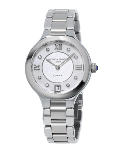 33mm Delight Automatic Bracelet Watch with Diamonds