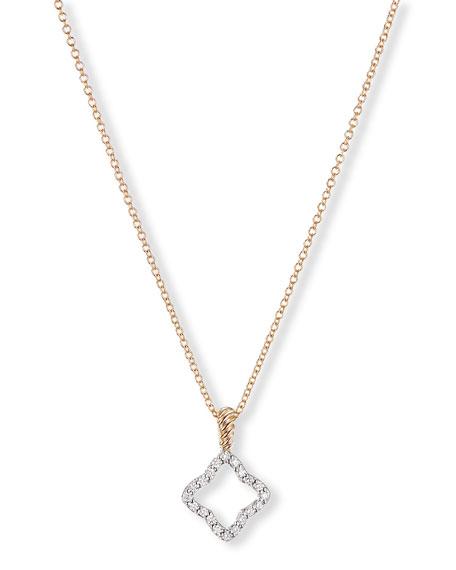 David Yurman Cable Collectibles 18k Gold Quatrefoil Necklace