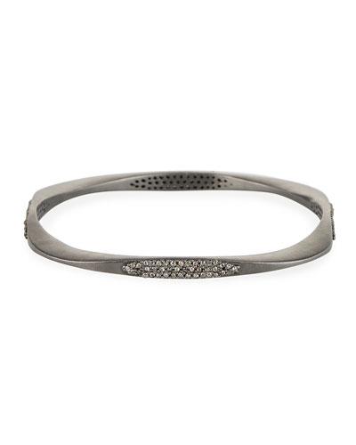 Diamond Blackened Bangle Bracelet