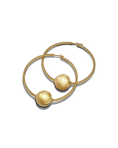 Solari 18K Gold Bead Hoop Earrings