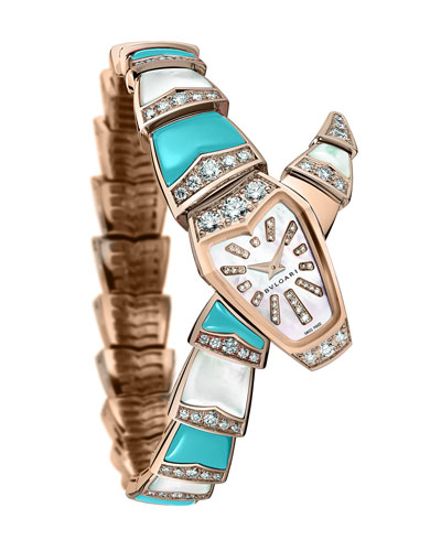 Serpenti Diamond & Turquoise Watch