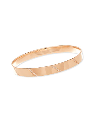 14K Rose Gold Vanity Expose Bangle with Diamonds
