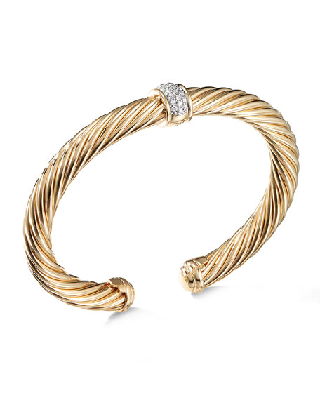 David Yurman Cable Classics Bracelet in Gold with Diamonds
