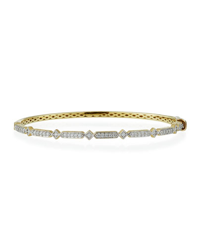 Lisse 18k Diamond Bangle Bracelet
