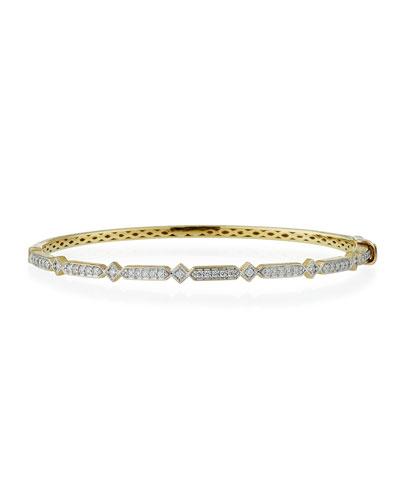 Lisse 18k Diamond Bangle Bracelet