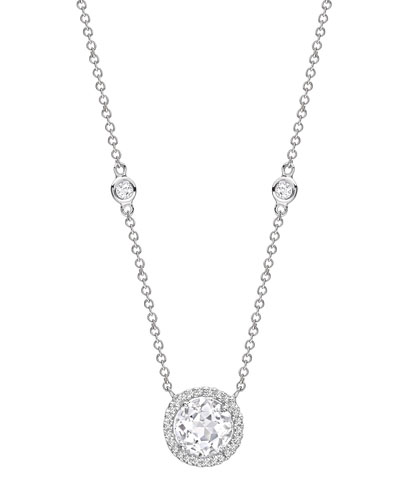 Grace White Topaz & Diamond Necklace