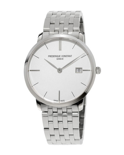 Men's 38.4mm Classics Slimline Midsize Stainless Steel Watch