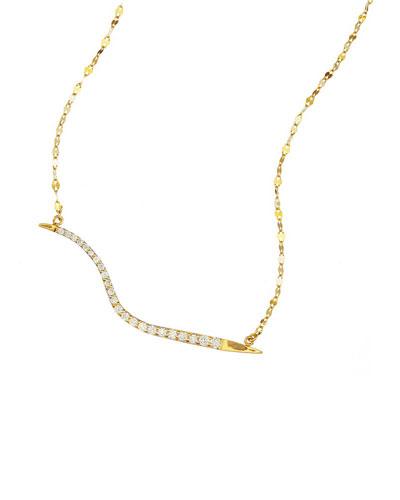 14k Electric Wavelength Diamond Necklace