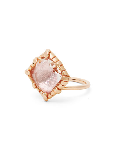Sadie Cushion Ring in Ballet Foil