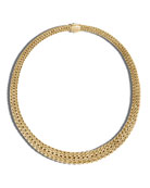 Classic Chain 18K Gold Taper Necklace