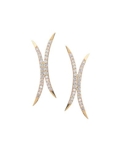 Small Mirage Diamond Stud Earrings