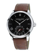 Gents 42mm Horological Smartwatch w/Leather Strap