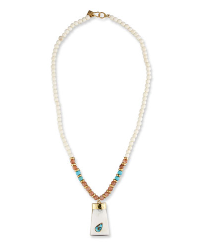 Marco Bicego Unico Africa Beaded Necklace with Rough Diamonds, 36 (29.64ct)