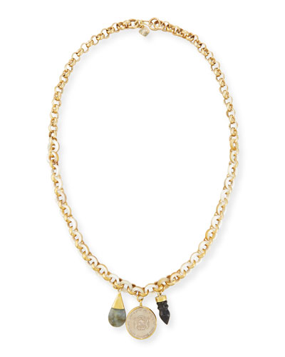 Mpenzi Long Triple-Charm Necklace