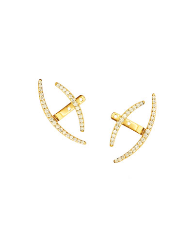 14k Fusion Diamond Jacket Earrings