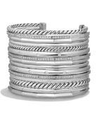 Stax Wide Cuff Bracelet with Diamonds