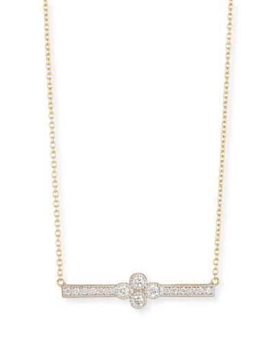 18k Gold Provence Diamond Bar Station Necklace